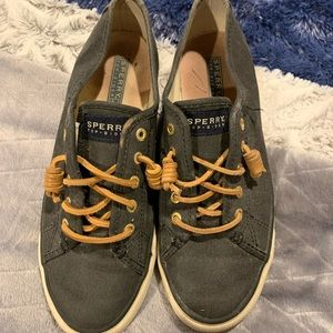 navy sperry shoes
